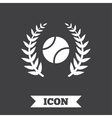 Tennis ball sign icon Sport symbol vector image