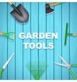 Background of Season Garden tools vector image