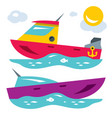 boats flat style colorful cartoon vector image