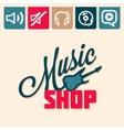 music shop vector image