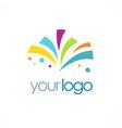 shape celebration party logo vector image