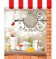 Dairy store vector image