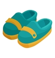 Pair of blue moccasins icon cartoon style vector image