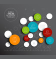dark abstract circles infographic template vector image