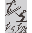 Nordic combined icons vector image