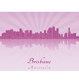 Brisbane skyline in purple radiant orchid vector image