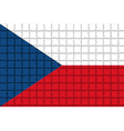 The mosaic flag of Czech vector image vector image