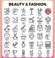 beauty and fashion icon set vector image