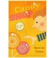 candy shop boy vector image