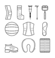 Orthopedic set of items for the medical vector image
