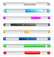 sliders and scroll bars vector image