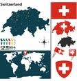 Switzerland map world vector image