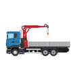 truck with crane and platform vector image