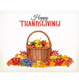 thanksgiving background with fresh vegetables and vector image