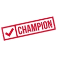 Champion rubber stamp vector image