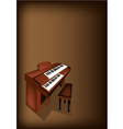 A Retro Pipe Organ on Dark Brown Background vector image vector image