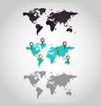 World map logo design icon set vector image