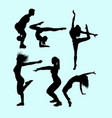 sport activity attractive male and female action s