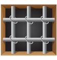 prison bar 01 vector image vector image