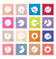 Set of 16 Pie Chart Icons Banner vector image