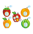 fruitberry small houses vector image vector image