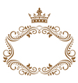 elegant royal frame vector image