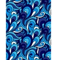 abstract seamless swirl background Blue vector image