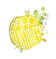 Bright Yellow Circle Bubble with Sign Happy vector image