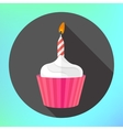 clipart cupcake burning candle flame vector image