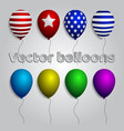 colorful realistic helium balloons isolated set vector image