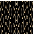 Golden line pattern on dark background vector image