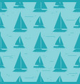 sailboat silhouettes seamless pattern design vector image