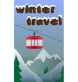 Ski banner with lift skiing snowboarding vector image