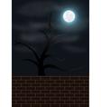 Spooky night scene vector image