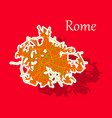 sticker city map of rome with well organized vector image