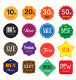 Set of business vintage badges and labels vector image vector image