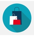 Shopping Bag Design Icon vector image