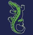crocodile reptile mascot vector image vector image