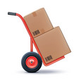shipping cart isolated on white 3d vector image