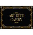 art deco gatsby vector image