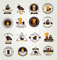 Coffee badgelabel icon menu Flat design vector image