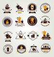Coffee badgelabel icon menu Flat design vector image vector image