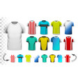 Collection of various soccer jerseys vector image vector image