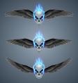 Flaming mutant skulls vector image