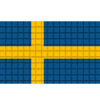 The mosaic flag of Sweden vector image