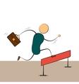 businessman running vector image