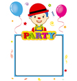 clown with poster vector image