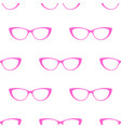 glasses seamless pattern background cute vector image