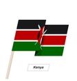 Kenya Ribbon Waving Flag Isolated on White vector image