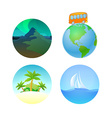 Round Travel llustrations vector image
